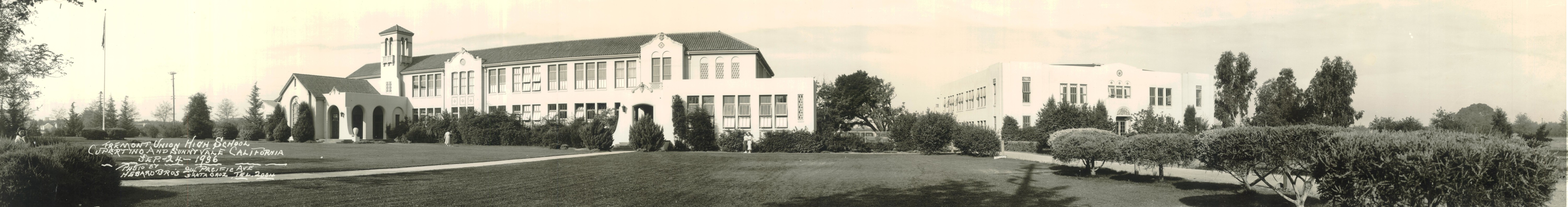 Photo of the Fremont High School campus taken in 1936
